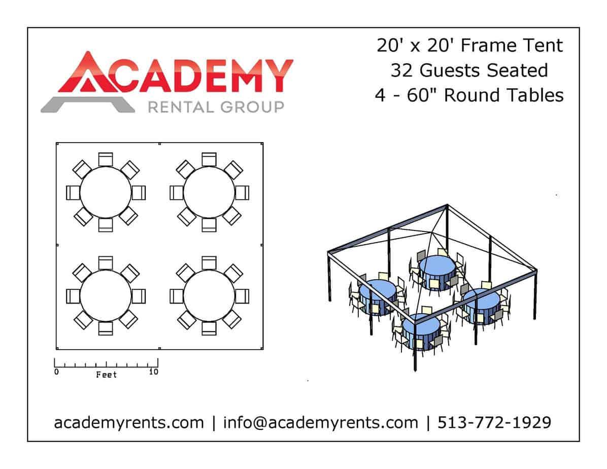 20x20 Frame Tent Rentals Cincinnati Event Rentals
