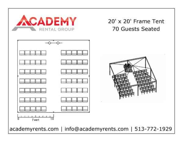 20x20 Frame Tent Layout_Ceremony Chairs