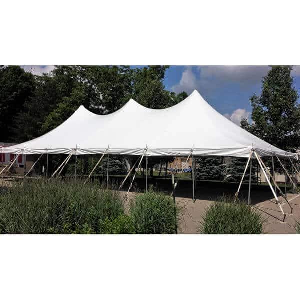 30x60 high peak pole tent rental
