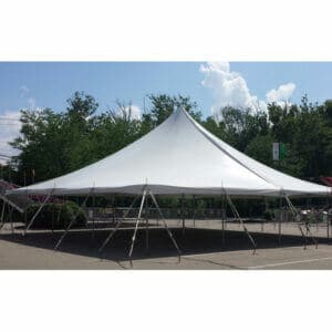 40x40 High Peak Pole Tent Rental