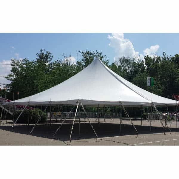 40x40 High Peak Pole Tent Rental