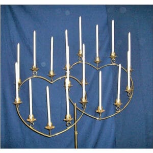Double Heart Candelabra