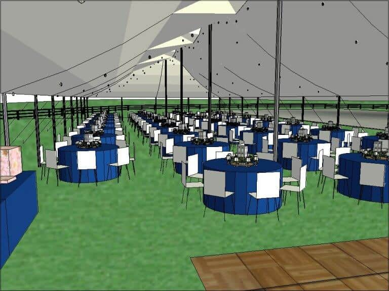 Custom Wedding Tent Layout Cincinnati