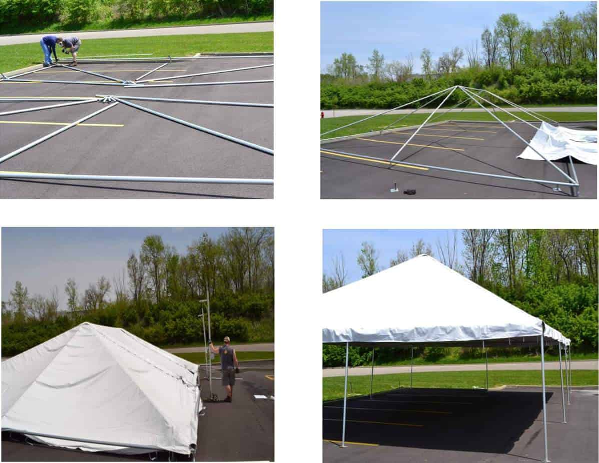 Frame Tent set up and Installation