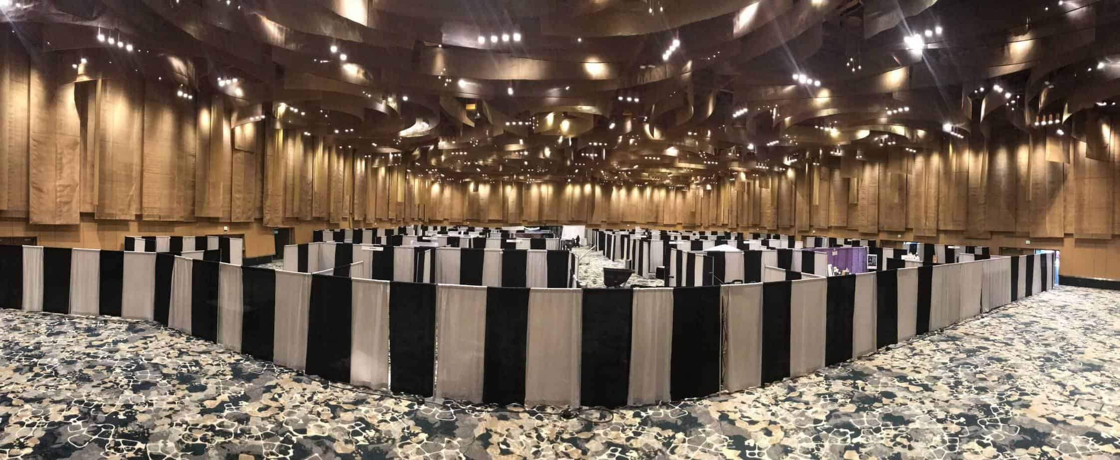 Convention Booth Pipe and Drape Rental