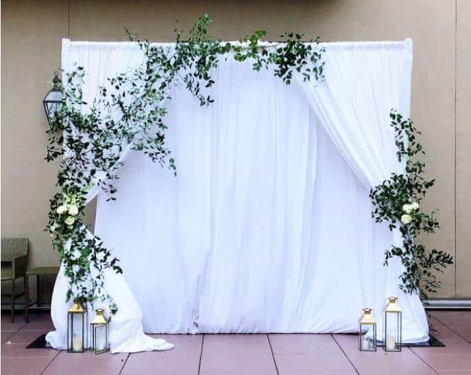 Wedding Ceremony Backdrop Example